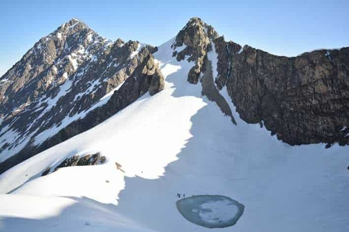 Top View of Roopkund Lake