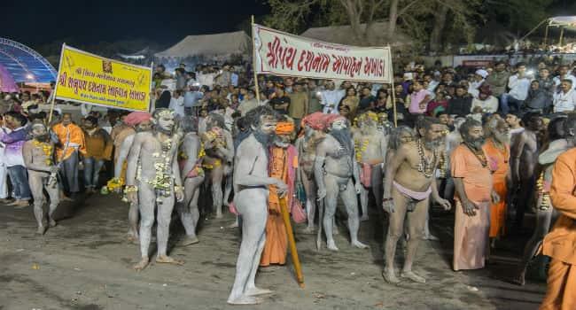 Naga Sadhus Shivratri Bhavnath Mela