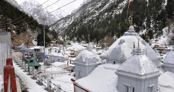 Gangotri dham during winter