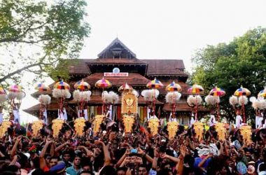 Thrissur Pooram Elephants Parade