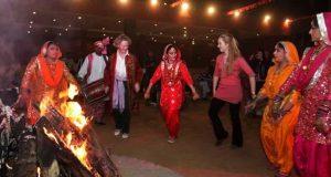 Performing Dance During the Lohri Festival