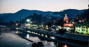 Bageshwar City at Night