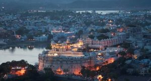 Night View of Udaipur City
